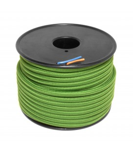 Câble textile - 1m - 2x0.75mm² - Vert Impérial