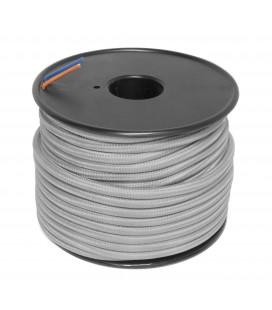 Câble textile - 1m - 2x0.75mm² - Gris