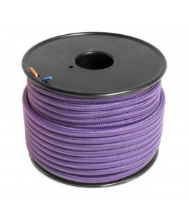 Câble textile - 1m - 2x0.75mm² - Violet