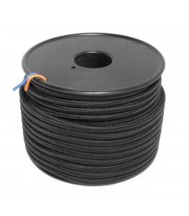 Câble textile - 1m - 2x0.75mm² - Noir