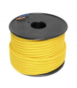 Câble textile - 1m - 2x0.75mm² - Jaune