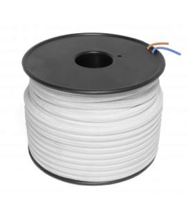 Câble textile - 1m - 2x0.75mm² - Blanc