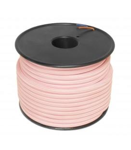 Câble textile - 1m - 2x0.75mm² - Rose