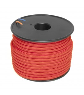 Câble textile - 1m - 2x0.75mm² - Rouge