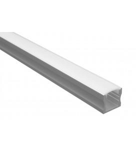 Profilé LED - Série U15 - 1,5 mètre - Aluminium - Diffuseur opaque