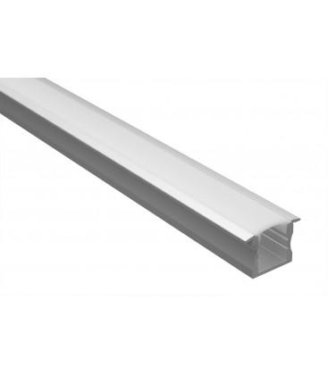 Profilé LED - Serie T15 - 1.5 Mètre - Diffuseur Opaque