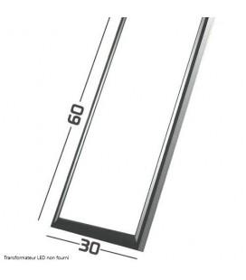 Dalle LED Cadre Aluminium Gris - SMD Samsung - 60x30 cm - 40W