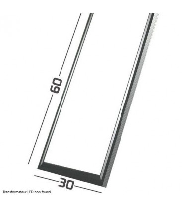 Panneau LED - SMD Samsung - 60x30 cm - 40W cadre aluminium gris