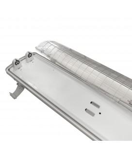 Réglette / boitier tube LED T8 double - Étanche - 1200 mm