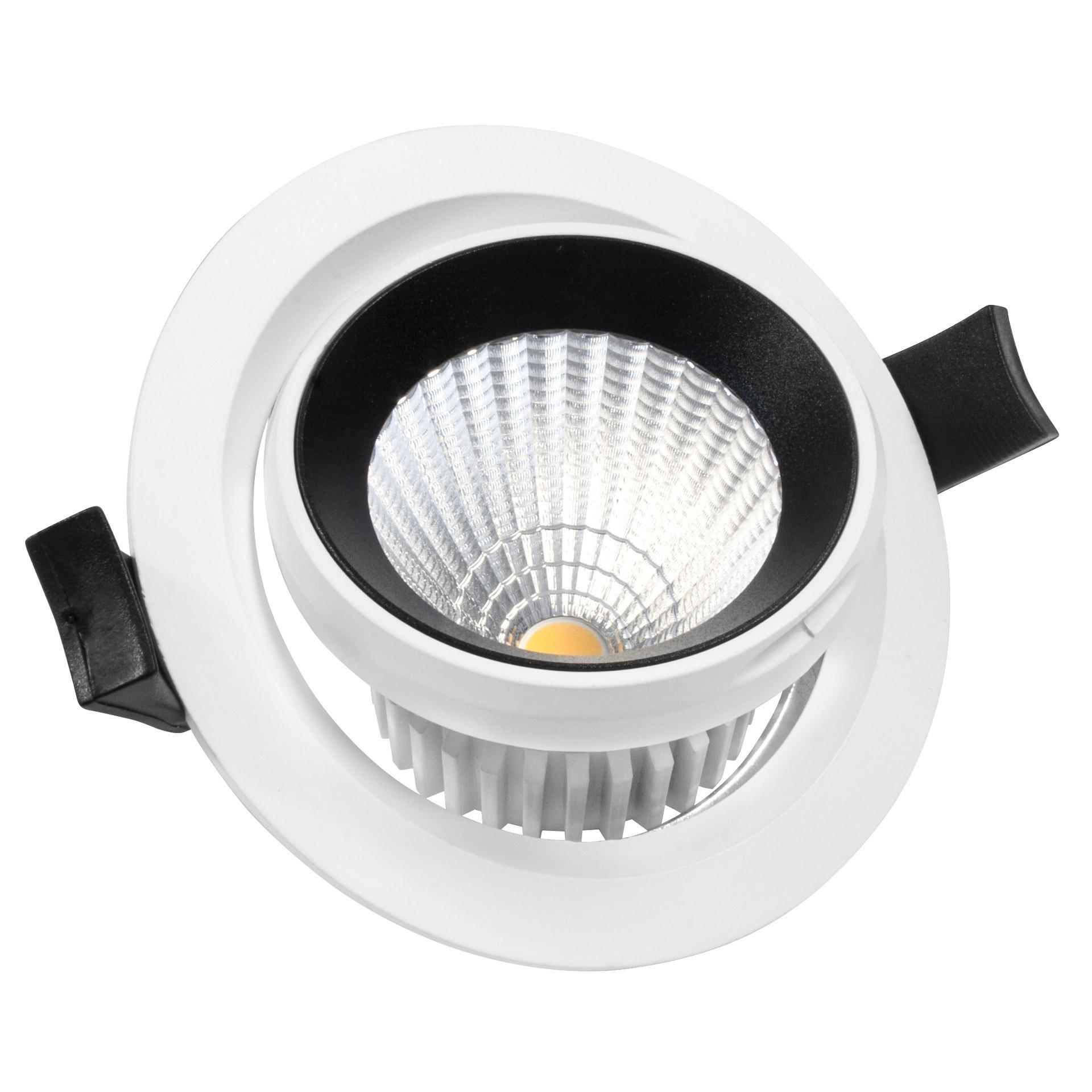 KYOTECH lot de 10 Cadre spot orientable ultra plat led Blanc spot led encastrable gu10 Rond,Cadre spot livr/é avec douilles GU10,Cadre spot encastrable Pour lampes halog/ènes GU10 MR16 led module