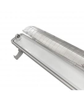 Réglette / boitier tube LED T8 simple - Étanche - 1500 mm