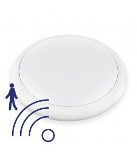 Hublot LED Rond 12W IP65 270mm Blanc Neutre avec détecteur - NOVA - DeliTech®