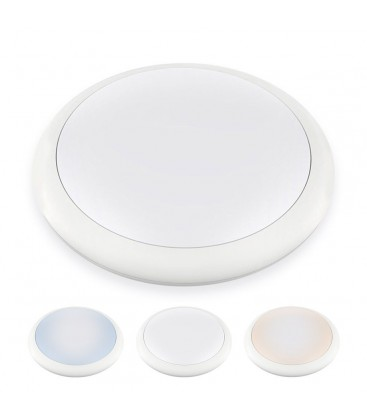 Hublot LED Rond IP65 - 12W - 270mm - NOVA by DeliTech® - Triple couleur de blanc