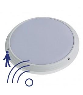 Hublot LED Rond IP65 avec détecteur - 15W - 330mm - 840 - Blanc Neutre