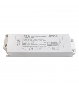 Driver LED CC - 700mA - 24-40VDC - 28W - ON/OFF (BTON/59CL25W/L4-700mA-30W)