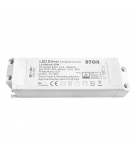 Driver LED CC - 800mA - 27-40VDC - 32W - ON/OFF (BTON/59CL35W/L4-800mA-35W)