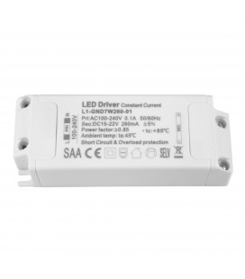 Driver LED CC - 260mA - 15-22VDC - 7W - Non dimmable