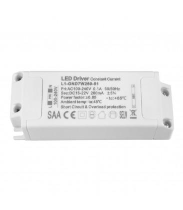 Driver LED non dimmable pour encastrable - 7W - 260mA