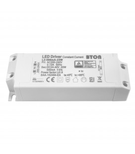 Driver LED CC - 500mA - 24-40VDC - 20W - ON/OFF (BTON/59CL18W/L2-500mA-23W)