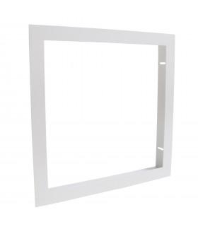 Cadre d'encastrement pour dalle LED 30x30cm, faux plafond & plaque de plâtre Ba13