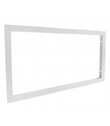 Cadre d'encastrement pour dalle LED 60x30cm, faux plafond & plaque de plâtre Ba13