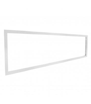 Cadre d'encastrement pour dalle LED 120x30cm, faux plafond & plaque de plâtre Ba13