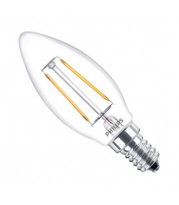 Ampoule LED E14 Philips - Classic LEDcandle Filament 2-25W - Blanc Chaud 2700K