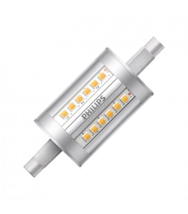 Ampoule LED R7S - Philips - CorePro LED 7,5-60W 78mm - Blanc Chaud