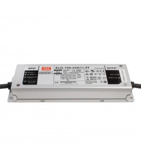 Alimentation LED Type A - 150W - 24V - 6.25A 150W CC+CV IP65 Io/Vo Adj W/Pot