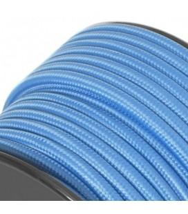 Câble textile - sur mesure - Bleu Nuit