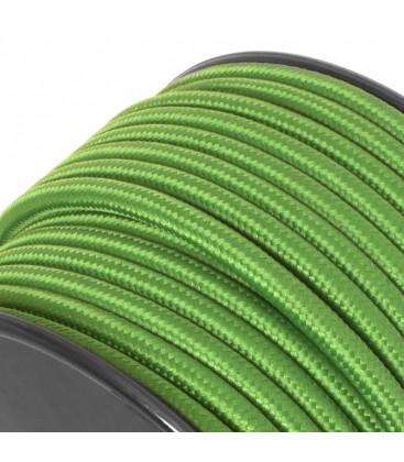 Câble textile - au mètre - Vert Émeraude