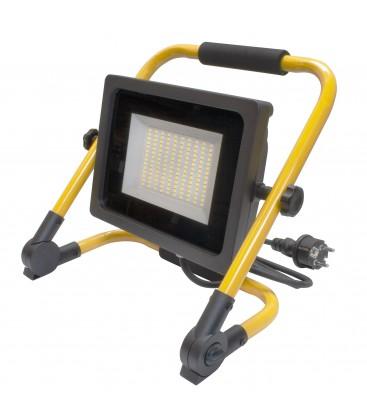 Projecteur LED de chantier avec 2 mètres de câble - 50W - IP65 - WAVE - Ecolife Lighting® - Blanc Pur