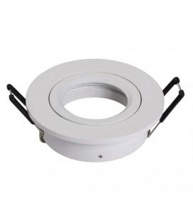 Support d'encastrement GU10 / MR16 Orientable - Rond - Blanc