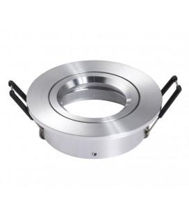 Support d'encastrement GU10 / MR16 Orientable - Rond - Aluminium brossé