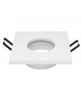 Support d'encastrement GU10 / MR16 Étanche IP65 - Carré - Blanc mat