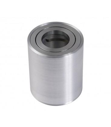 Support saillie GU10 / MR16 Orientable - Rond - Aluminium brossé