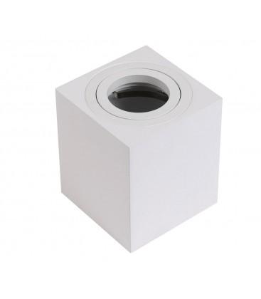 Support d'encastrement GU10 / MR16 Orientable - Carré - Blanc