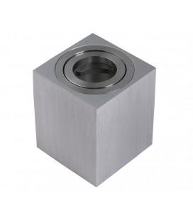 Support saillie GU10 / MR16 Orientable - Carré - Aluminium brossé