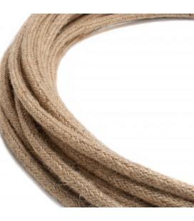Fil électrique tressé - 2x0.75mm2 - Sur mesure - Effet corde