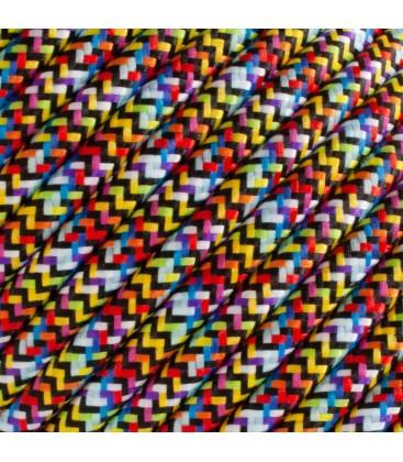 Fil électrique tressé - 2x0.75mm2 - Sur mesure - Multicolore