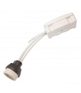 Douille câblé GU10 - 0,5mm² - cache blanc