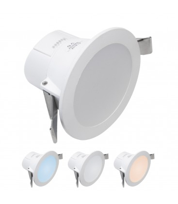 Blanc Couleur Led Decoreno 7w Encastrable De DimmTriple 2IW9HebEDY