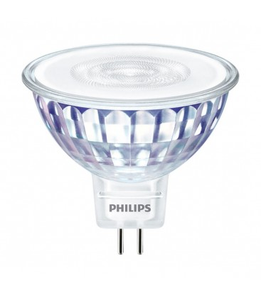 Ampoule LED MR16 Philips - MASTER LEDspot GU5.3 Dim 5-35W 36° - Blanc Chaud