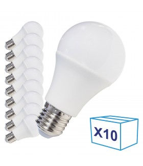 Pack de 10 Ampoules LED E27 - 8W - Ecolife Lighting® - Blanc Neutre
