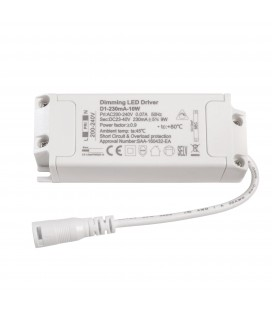 Driver LED CC - 230mA - 23-40VDC - 10W - TRIAC Dimmable