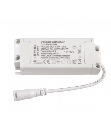 Alimentation LED dimmable pour encastrable - 10W - 230 mA+/-5%