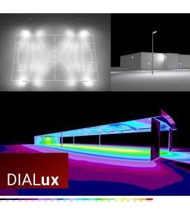 Étude d'éclairage photométrique DIALux sur-mesure