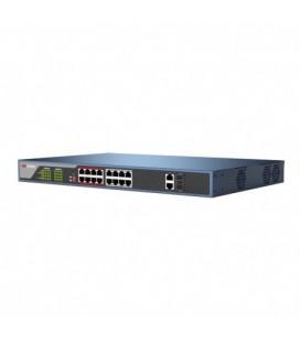 Hikvision DS-3E0318P-E switch PoE longue distance 250 mètres 18 ports dont 16 ports PoE