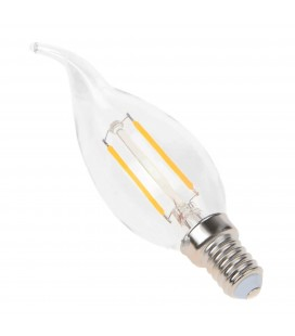 Ampoule filament LED flamme Transparent - E14 - BA35 - 2,5 W - SMD Epistar - Ecolife Lighting®