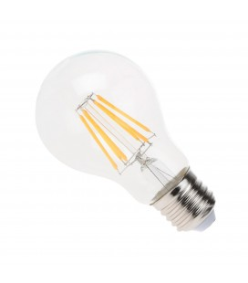 Ampoule filament LED Transparent - E27 - A60 - 6 W - SMD Epistar - Ecolife Lighting®